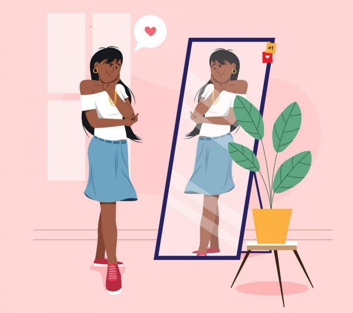 High self-esteem illustration illustration Vector